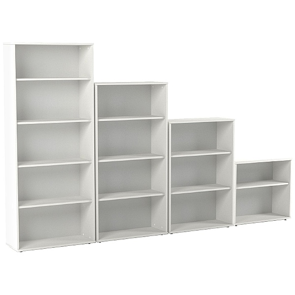 NEXT DAY Vogue Essential White Office Bookcases