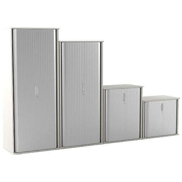 Vogue Essential White Tambour Cupboards