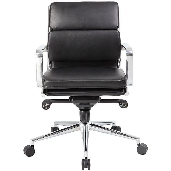 Sicily Medium Back Leather Office Chairs