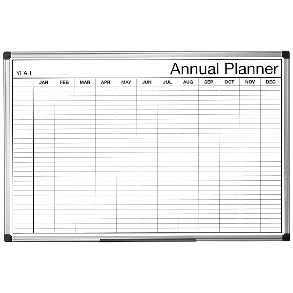 Bi-Office Monochrome Annual Planner (Months)