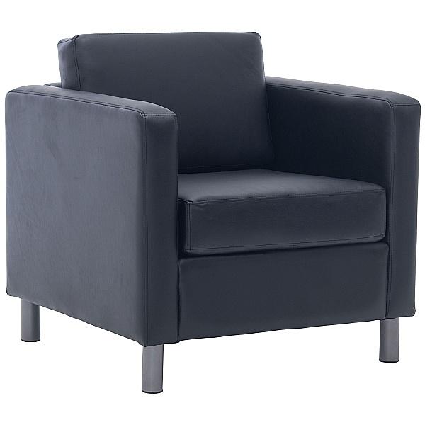 Alvar Bonded Leather Armchair