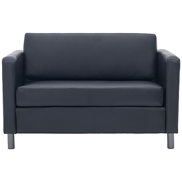 Alvar Bonded Leather Two Seater Sofas