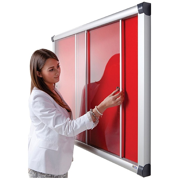 Eco-Sound Acrylic Sliding Door Tamperproof Blazemaster Noticeboards