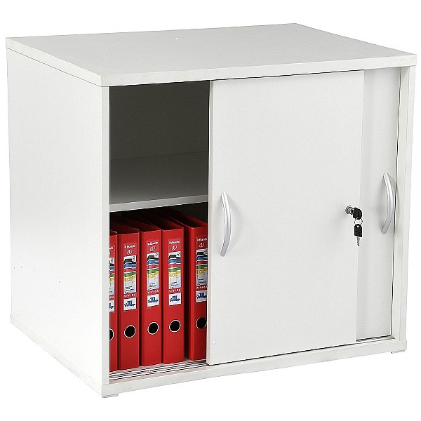 NEXT DAY Karbon Desk High Sliding Door Cupboard