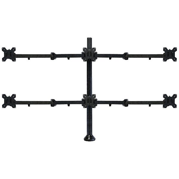 Heavy Duty 6 Screen Monitor Arm