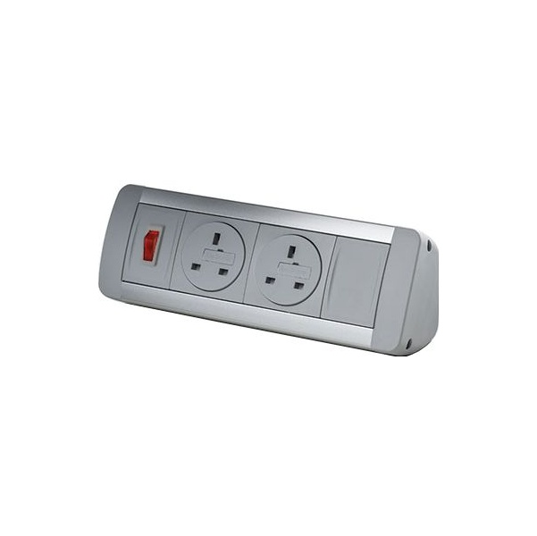 Desktop Power Module with 2 Mains Power Sockets