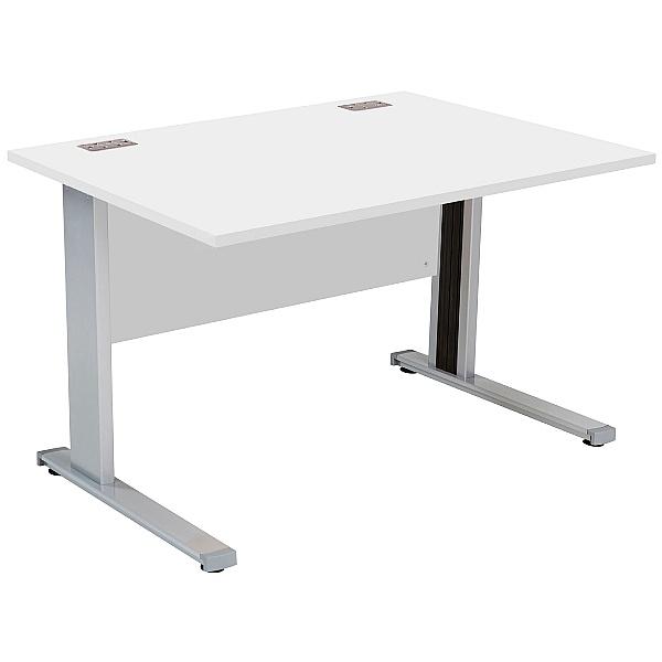 Commerce II Systems White Rectangular Office Desks