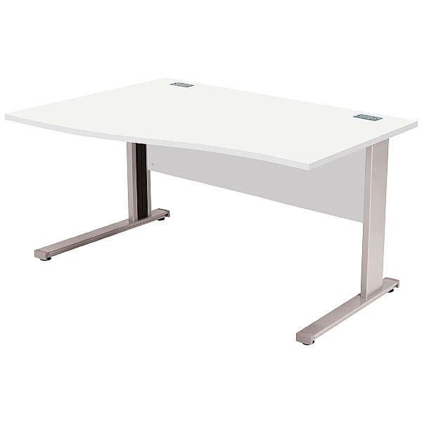 Commerce II Systems White Wave Office Desks