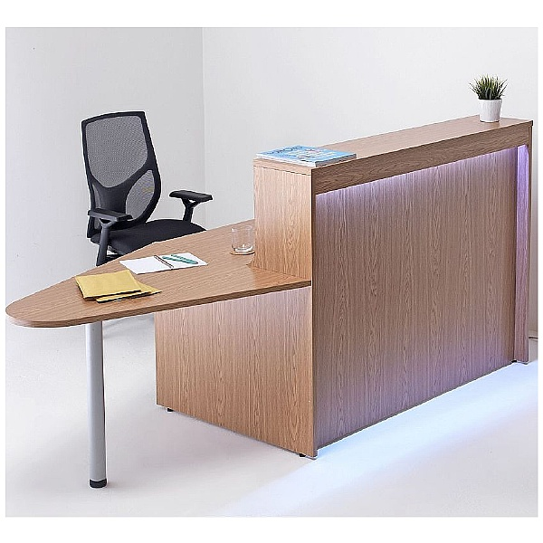 Precision Reception Desk With Extension