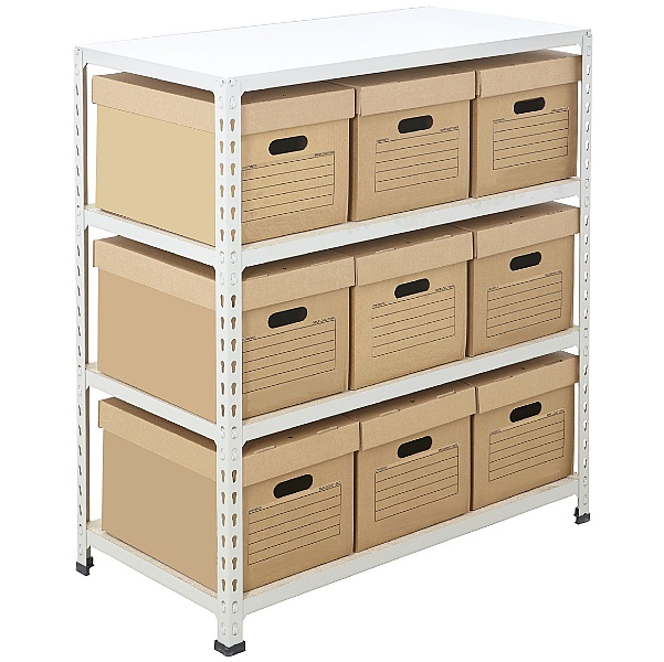 BiG340 Compact Document Storage Shelving With Value Boxes