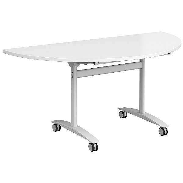 NEXT DAY Unite Plus Semi-Circular Flip Top Table