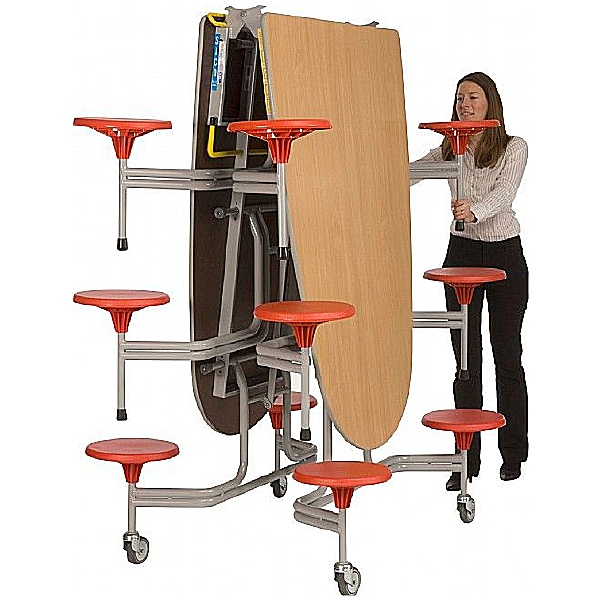 Oval Communicator 12 Seat Folding Dining Units