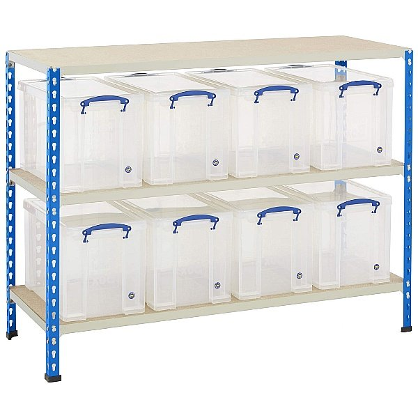 BiG340 Shelving Bay With 8 x 24 Litre Really Useful Boxes