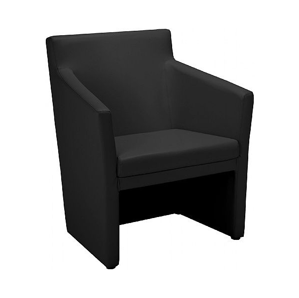 Club Square Leather Faced Tub Chairs