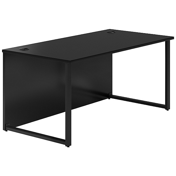 NEXT DAY Noir Hoop Leg Rectangular Desks