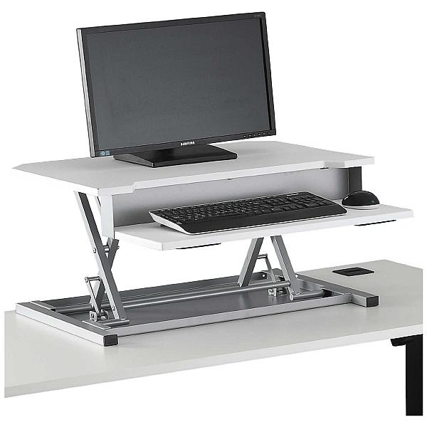 NEXT DAY Karbon Sit Stand Desktop Riser