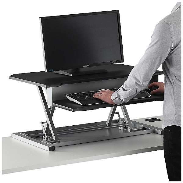 NEXT DAY Karbon Sit Stand Desktop Riser