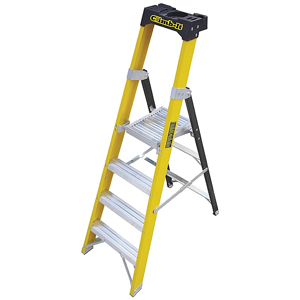 Climb-It Glass Fibre Platform Stepladders