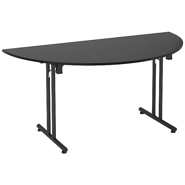 Noir Semi-Circular Folding Tables
