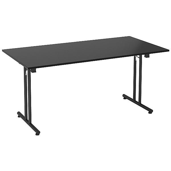 NEXT DAY Noir Rectangular Folding Tables