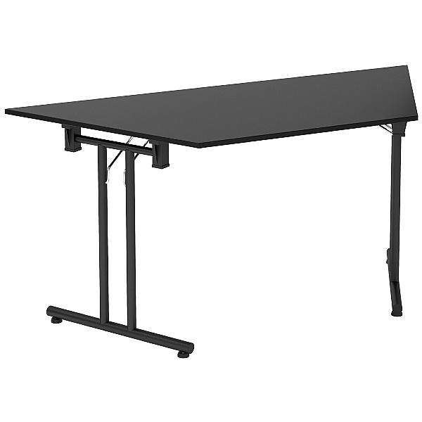 NEXT DAY Noir Trapezoidal Folding Tables