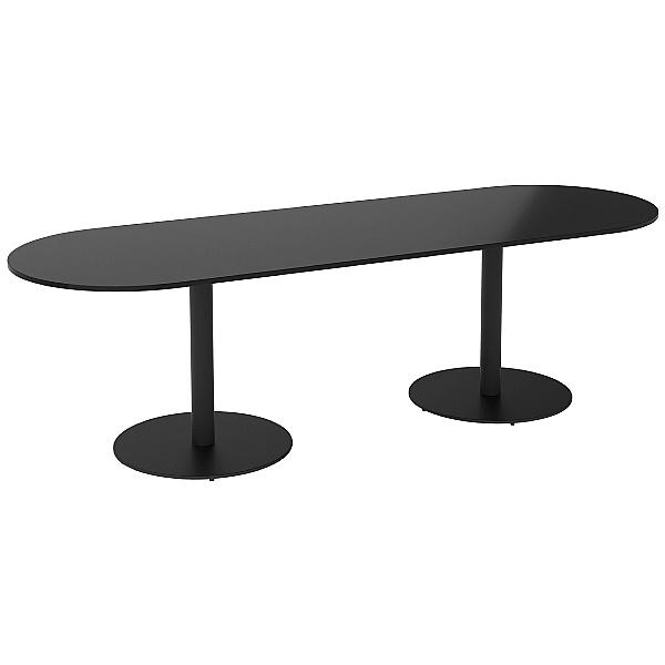 NEXT DAY Noir D-End Meeting Table