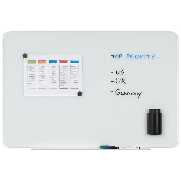 Bi-Office Magnetic Glass Whiteboard