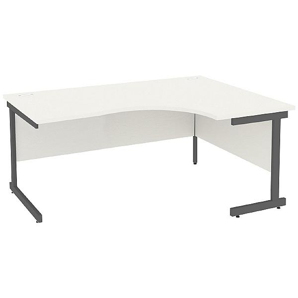 Next Day Vogue White Ergonomic Cantilever Desks