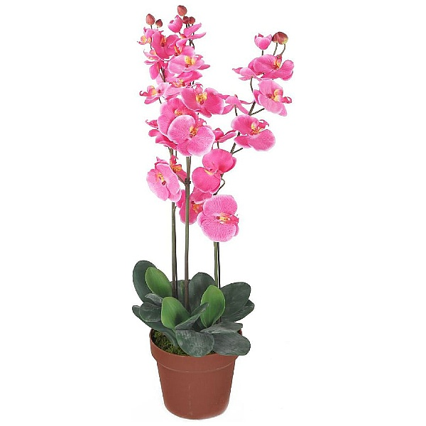 Artificial Pink Phalaenopsis Orchid Plant