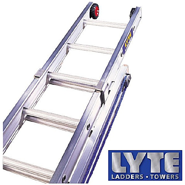 Lyte Industrial Heavy Duty Rope Operated Extension Ladders