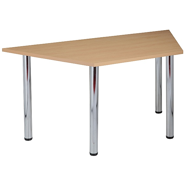 NEXT DAY Karbon Tubular Leg Trapezoidal Office Tables