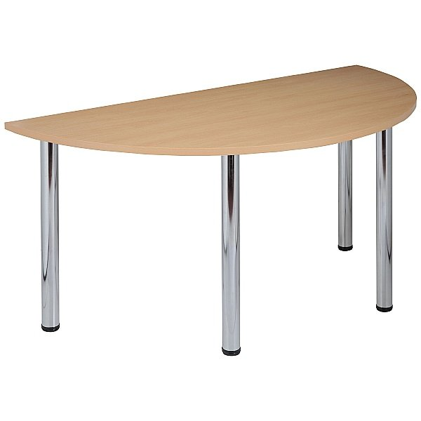 NEXT DAY Karbon Tubular Leg Semi Circular Office Tables