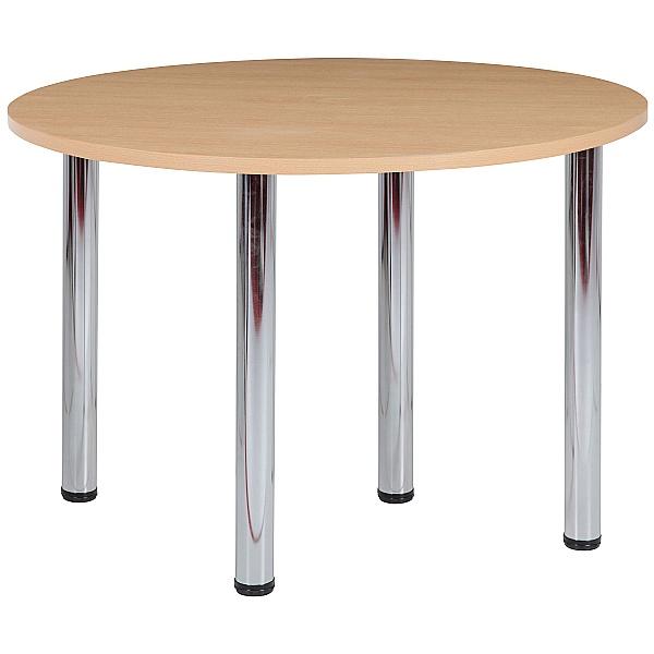 NEXT DAY Karbon Tubular Leg Circular Office Tables