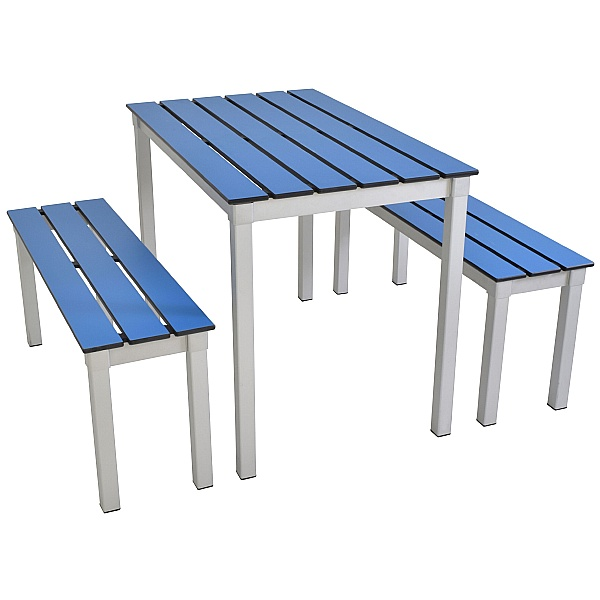 Gopak™ Outdoor Enviro Plus Rectangular Table & Bench Set