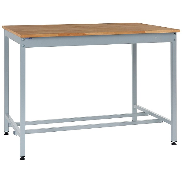 Express Square Tube Workbenches - Beech Worktop