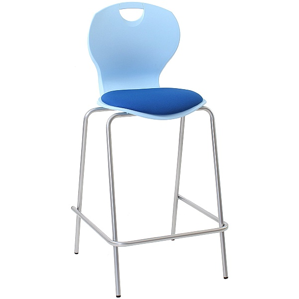 Evo Polypropylene Classroom Stools With Upholstered Seat