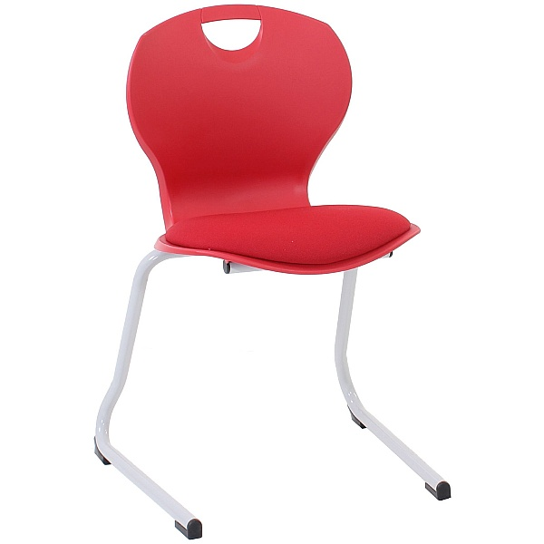 Evo Polypropylene Reverse Cantilever Classroom Chairs With Upholstered Seat