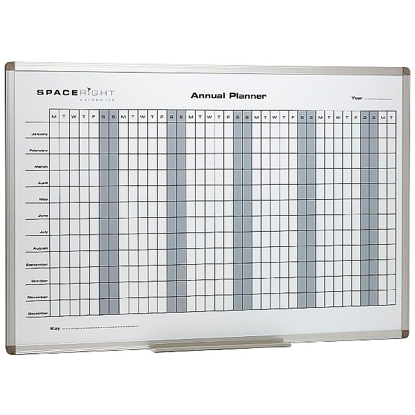 Annual Planner Marked Magnetic Whiteboard