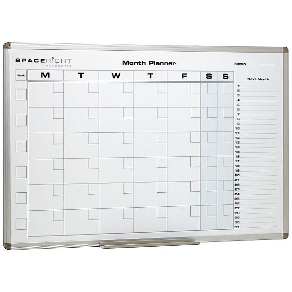 Monthly Planner Marked Magnetic Whiteboard