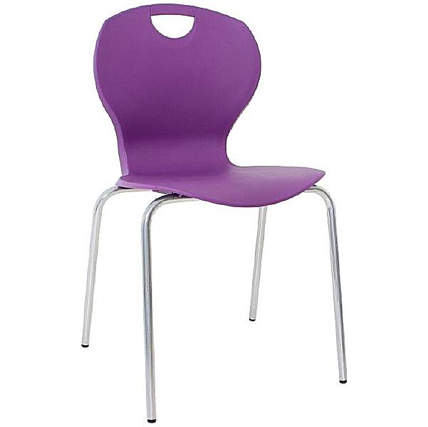 Evo Polypropylene Four Leg Bistro Chairs