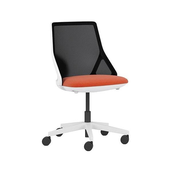 Pledge Cicero Medium Back White Task Chair