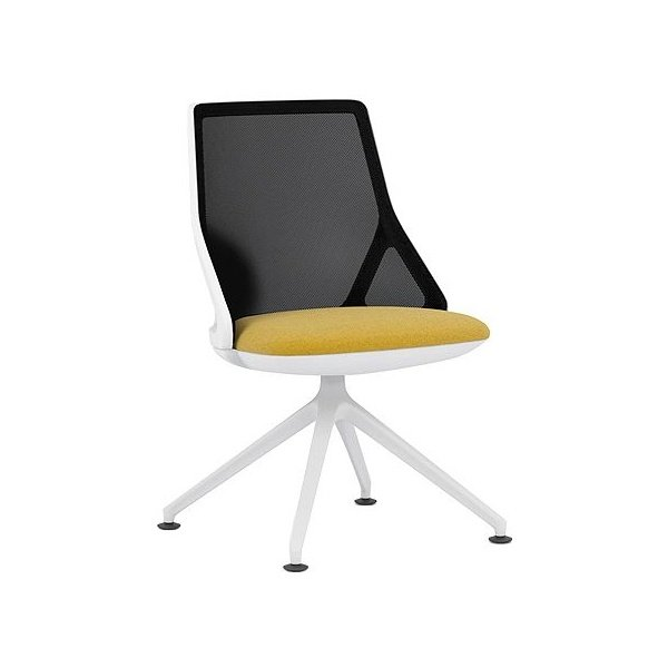 Pledge Cicero Medium Back White Conference Chair