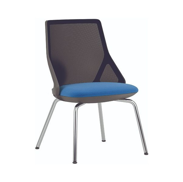 Pledge Cicero Black Stacking Visitor Chair