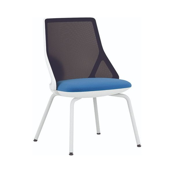 Pledge Cicero White Stacking Visitor Chair