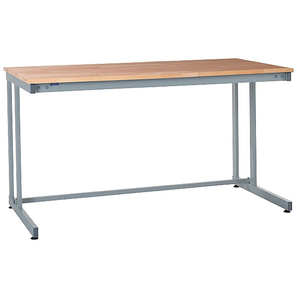 Express Cantilever Workbenches - Beech Worktop