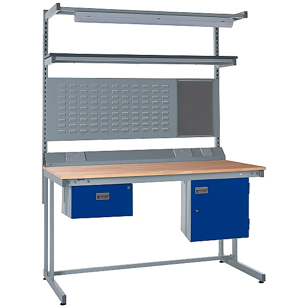 Express Cantilever Workbench Bundle 1 - Beech Worktop