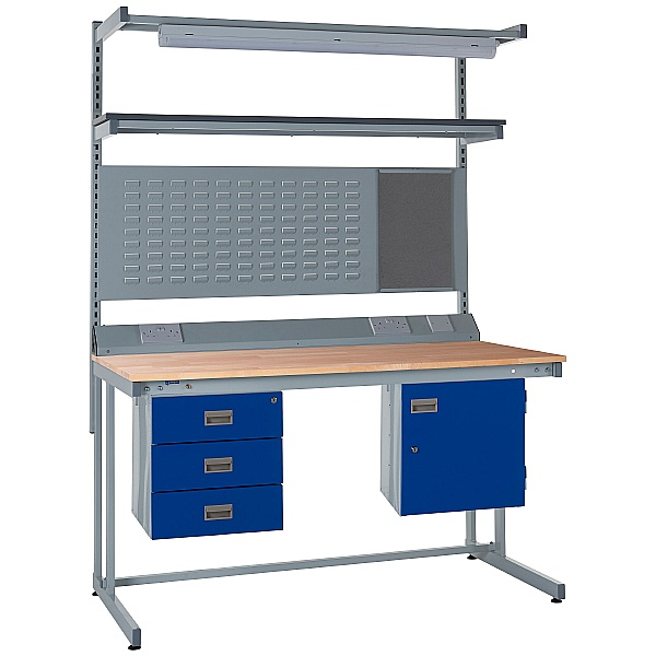 Express Cantilever Workbench Bundle 2 - Beech Worktop