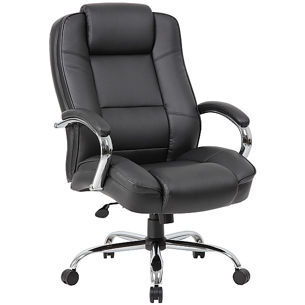 XL Bariatric 35 Stone 24 Hour Leather Faced Manager Chair