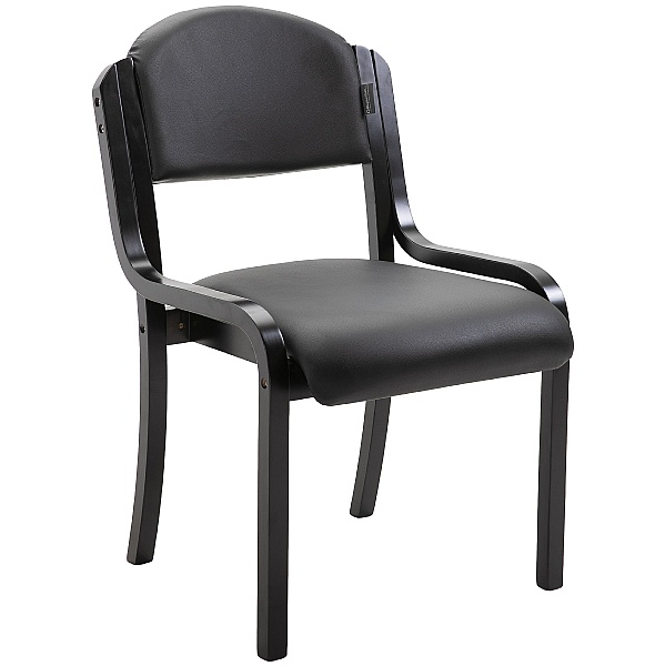 Devonshire Black Frame Vinyl Stacking Chair