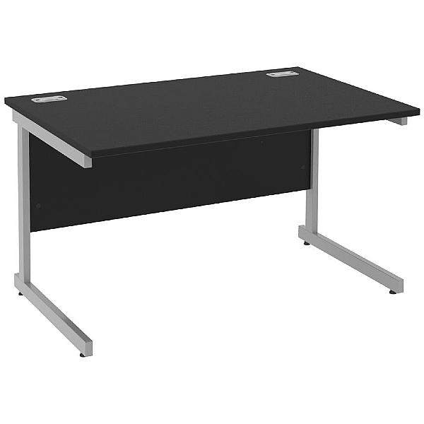 Next Day Eclipse Black Rectangular Cantilever Desks